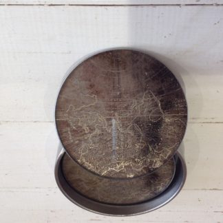 Glass set of 4 Coasters Atlas Design