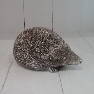 Small silver coloured metal hedgehog