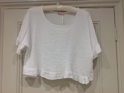 Frilled top - White