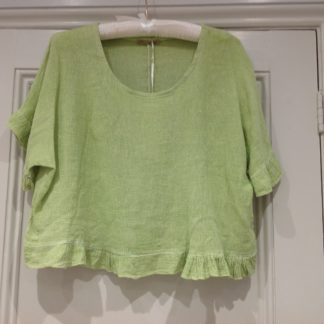 Frilled top - pistachio