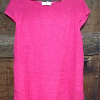 Linen dress in Fuscia