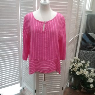 Pink striped linen top
