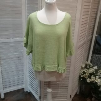 Linen frilled top