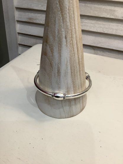 Bangle with raised charms