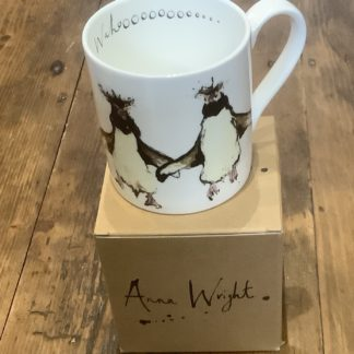 Bone china mug - Dancing penguins