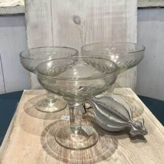 Champagne coupes - etched