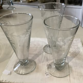 Prosecco glasses - etched