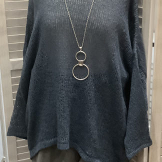 Denim coloured cotton jumper