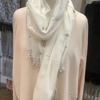 Ivory and blue scarf