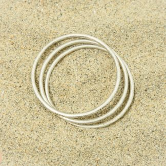 3 piece etched bangle