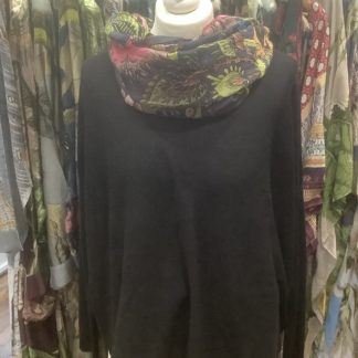 Charcoal button back sweater