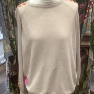 Oatmeal cashmere with heart detail